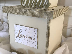 Tiered Sweet Sixteen Card Box