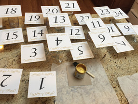 Table Number Edge Painting