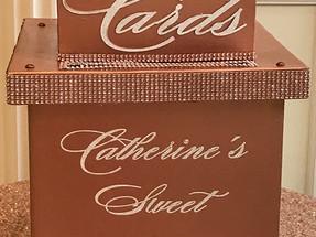 Rose Gold Sweet 16 Card Box