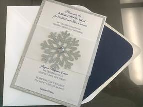Layered Snowflake Invitation