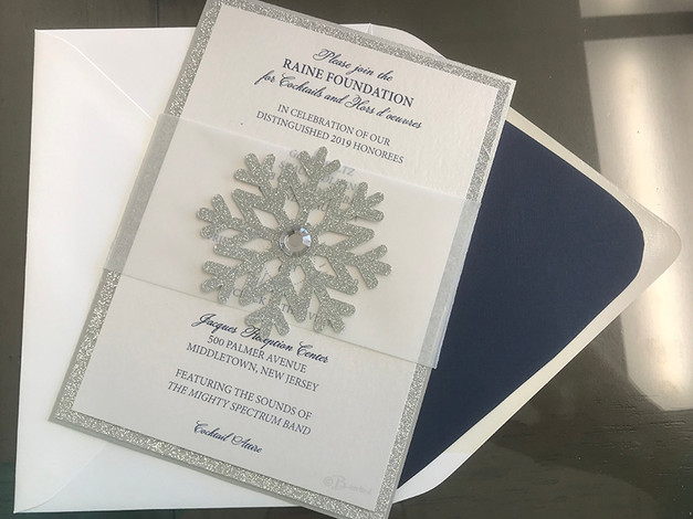 Layered Snowflake Invitation
