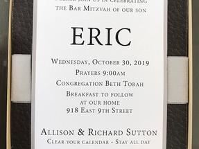 Boxed Bar Mitzvah Invitation