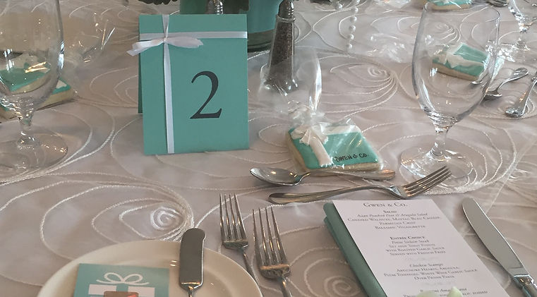 bridal shower table setting