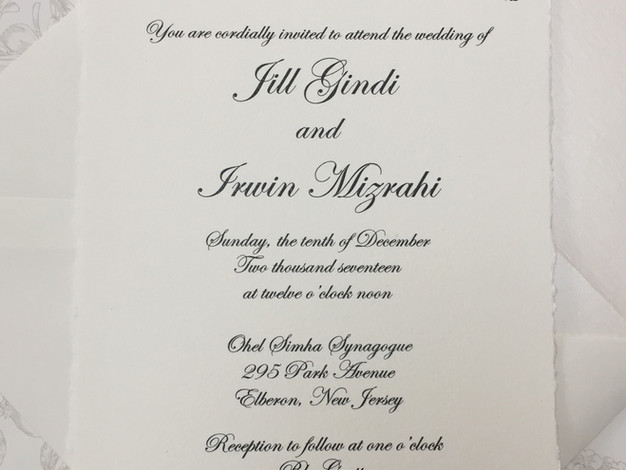 Elegant Torn Edge Invitation