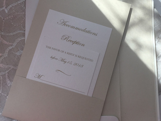 Invitation with Back Pocket