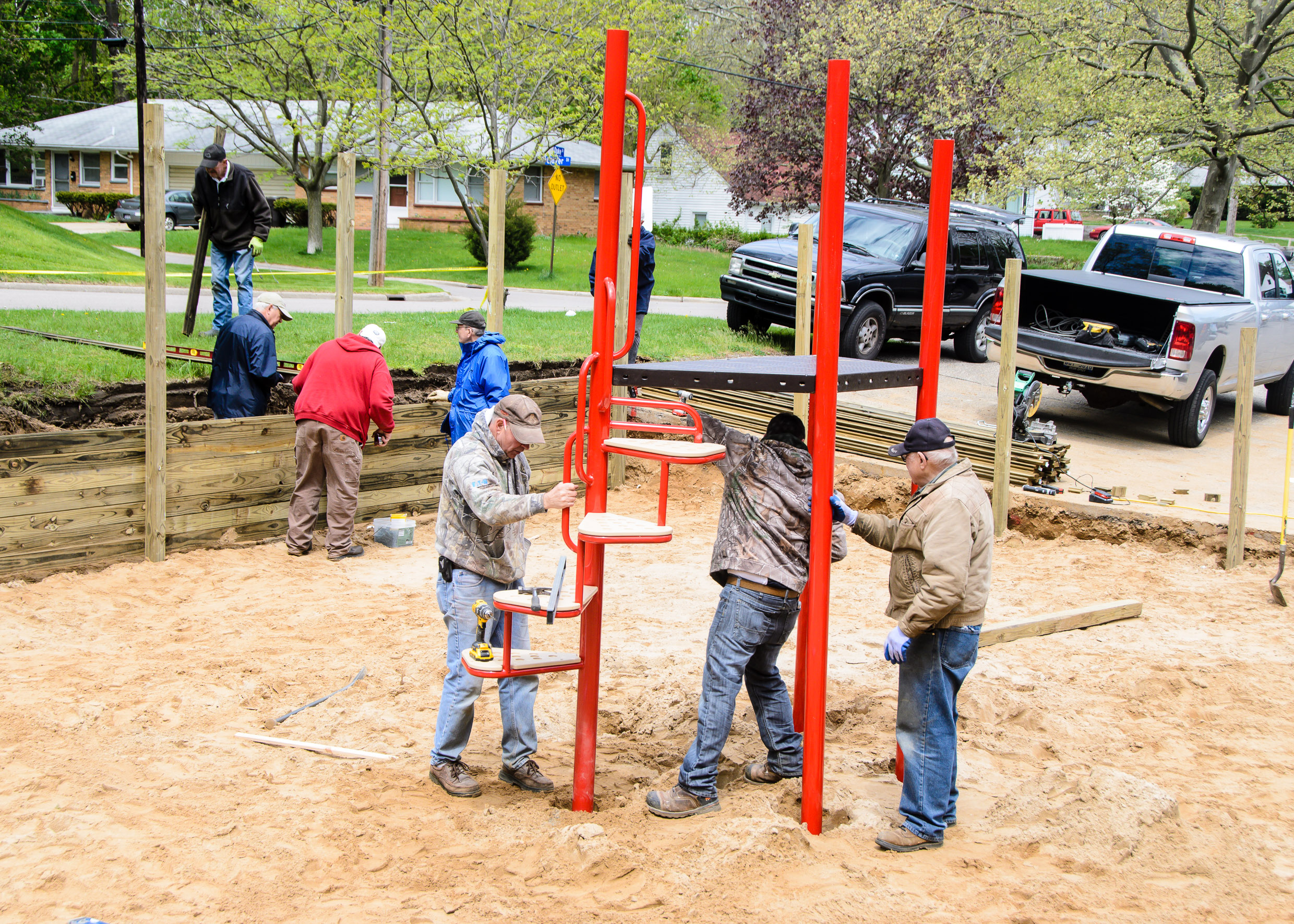 Building Duke Street Playground