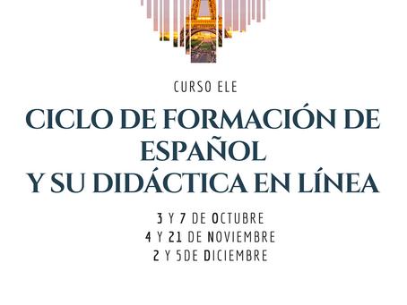 Ciclo de Formación de español y su didáctica en línea. FRANCIA