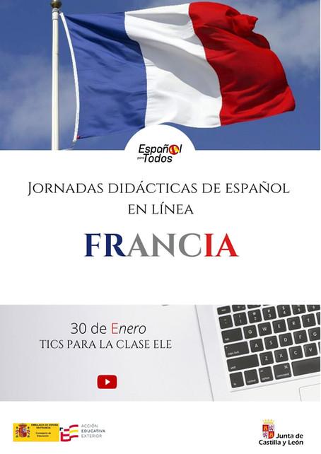 Jornadas didácticas de español en línea. FRANCIA. 30 de enero