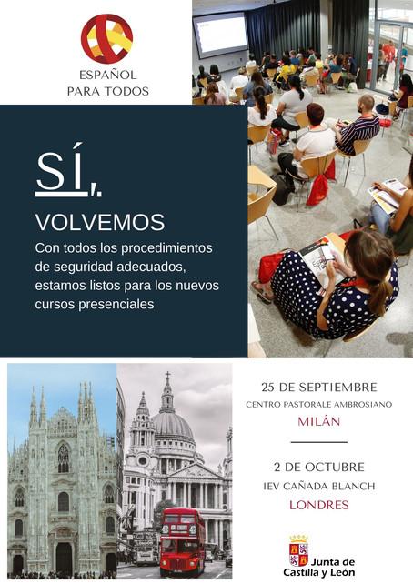 Primeros cursos presenciales en Milán y Londres