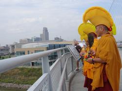Monks footbridge ceremony Sept 2013