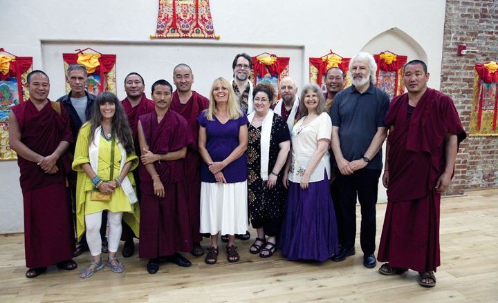 Board members with monks Sept 2013