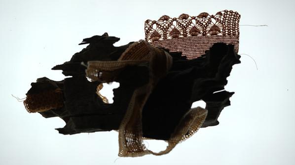 Petrified wood and crochet