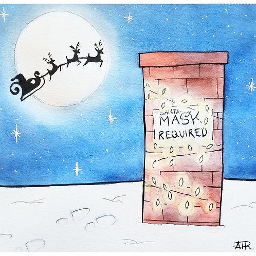 Mask Required, Santa!-Xmas Card