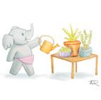 Ellie Watering Plants