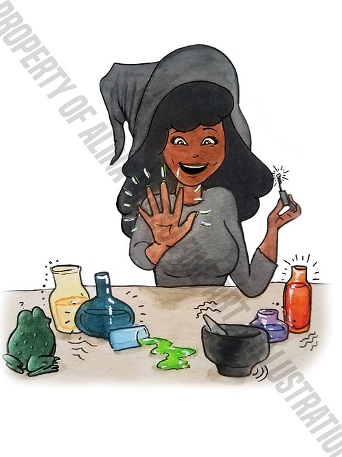 "Tia the Witch ""Nail Potion""-Halloween Card"