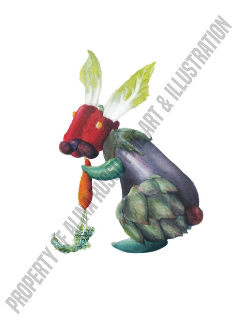 Veggie Bunny Print