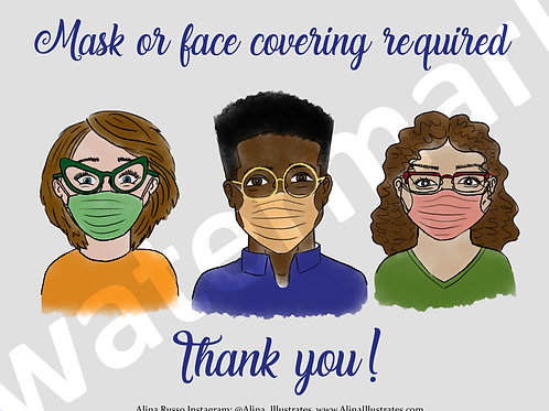 Mask Required Poster for Business