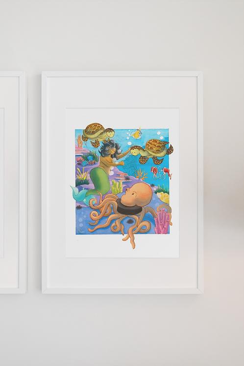 Mermaid Hero Print