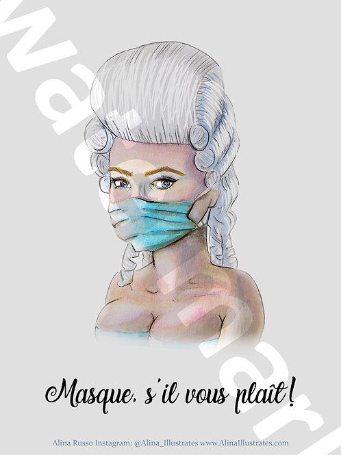 Masque S'il Vous Plait!- Digital