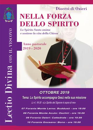 """LECTIO DIVINA con il Vescovo - Ottobre: """"Lo Spirito accompagna Gesù nella sua missione - Lc 4,"""
