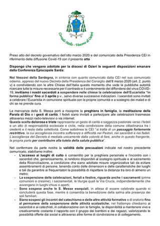Nuovo Comunicato 8 Marzo 2020 - CES per Coronavirus