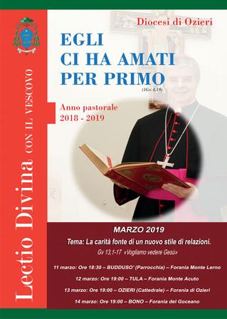 """LECTIO DIVINA con il Vescovo - Marzo: """"La carità fonte di un nuovo stile di relazioni"""" - «"""