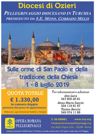 Pellegrinaggio Diocesano in Turchia presieduto da S.E. Mons. Corrado Melis