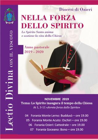 """LECTIO DIVINA con il Vescovo - Novembre: """"Lo Spirito inaugura il tempo della Chiesa"""""""