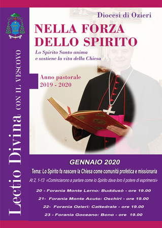 """LECTIO DIVINA con il Vescovo - Gennaio 2020: """"Lo Spirito fa nascere la Chiesa come comunità pro"""