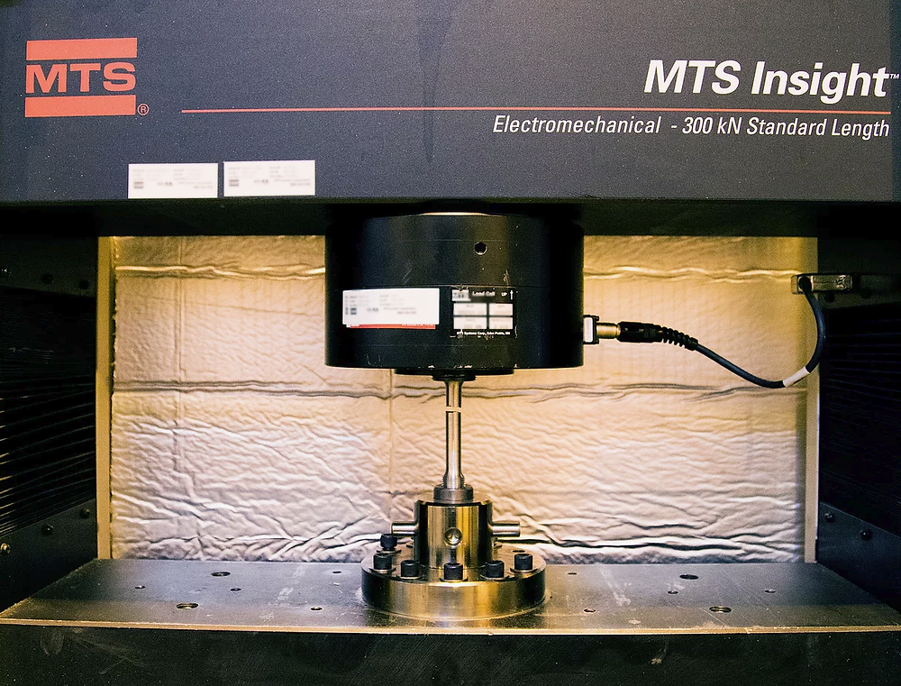 Figure 1.  AMAD's MTS Insight used for mechanical testing and material characterization.