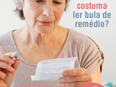 Você costuma ler bula de remédio?