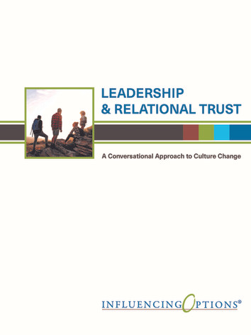 Leadership and Relational Trust