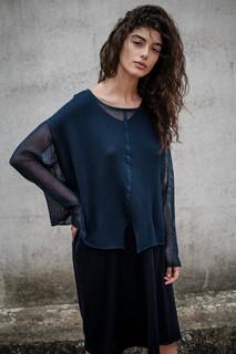 S1912 - round neck poncho S1938 - dress