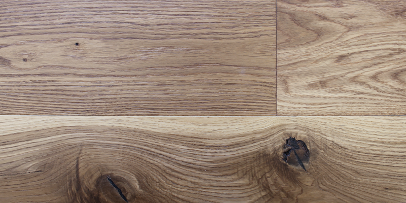 White Oak Natural Wire Brushed