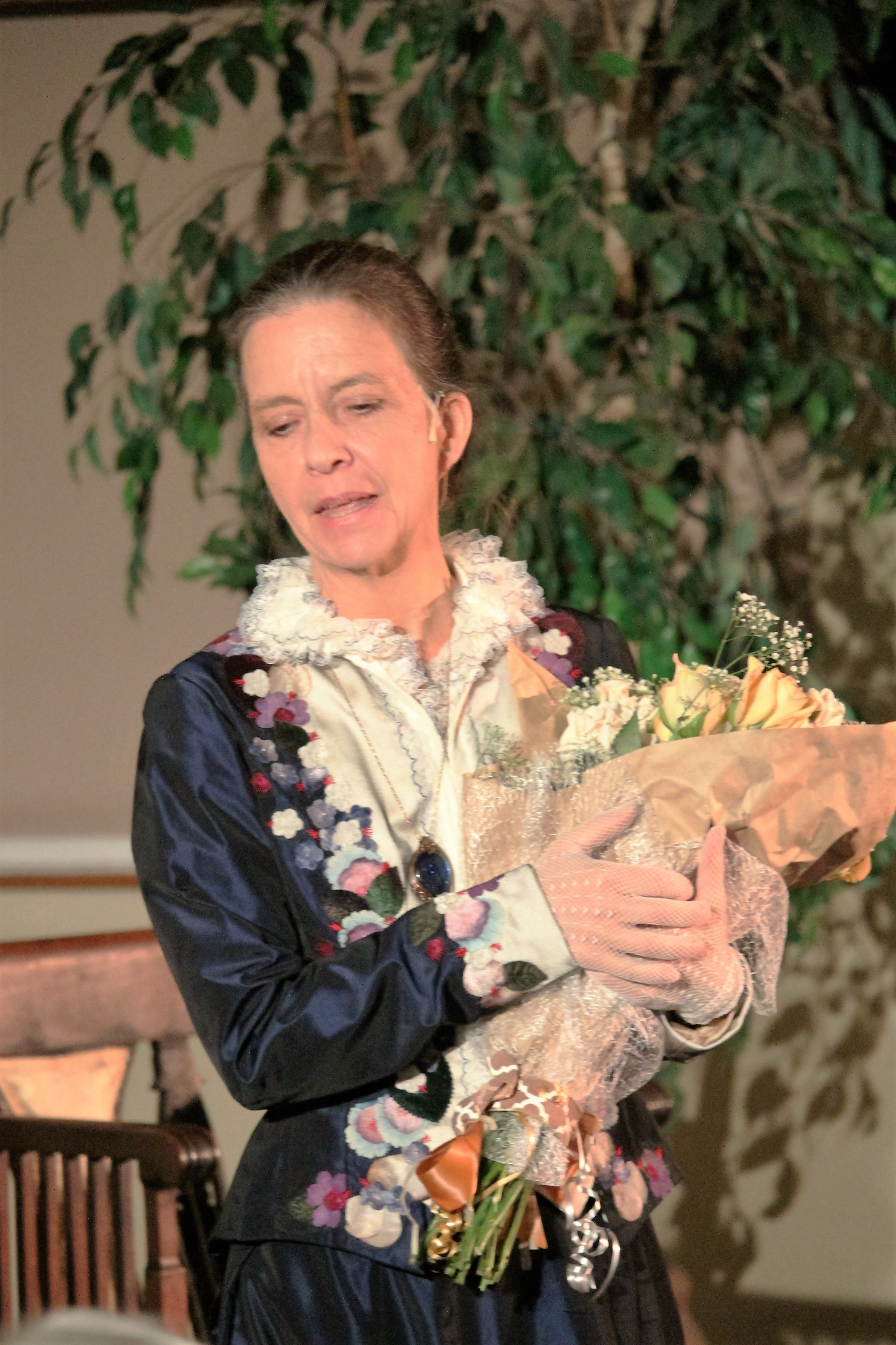 Karen Harris as Phoebe on stage