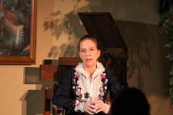 Karen Harris as Phoebe on stage4