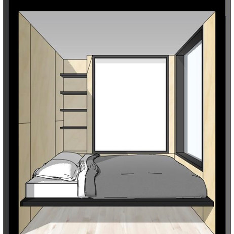 Containerly - side elevation bedroom