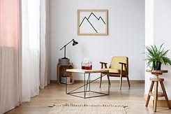 Sala de estar de diseño rústico
