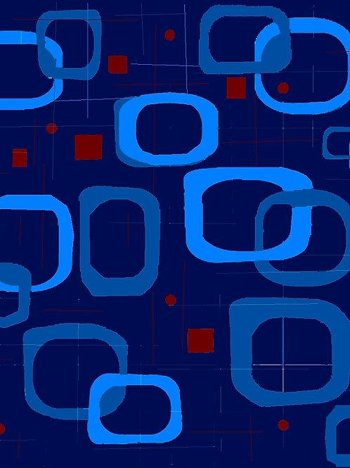 Square Circ Blue