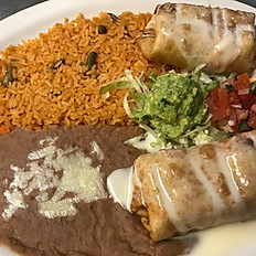 Beef or Chicken Chimichangas