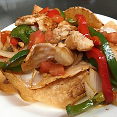 Lunch Chicken Nachos Fajitas