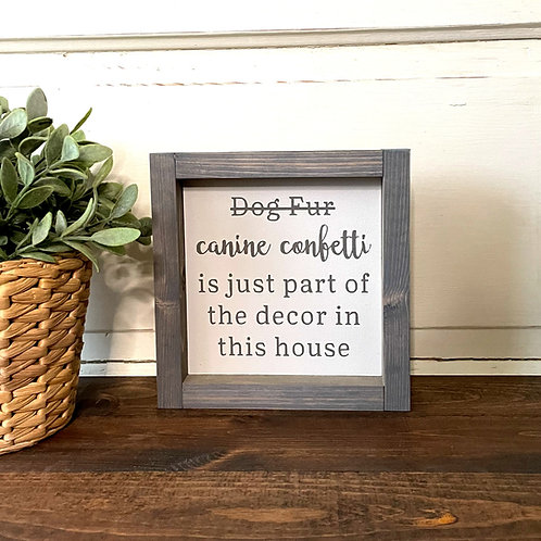 Dog fur, canine confetti