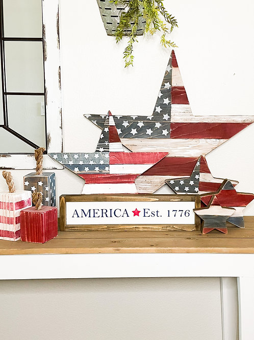 Red white and blue bundle - 9 piece set
