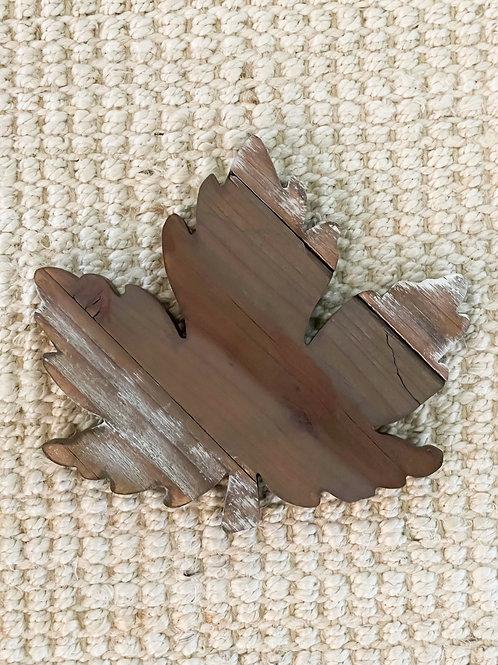 Rustic Reclaimed Wood Leaf