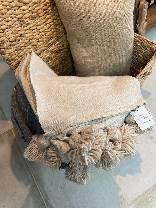 Plaid en coton artisanal 150x 200