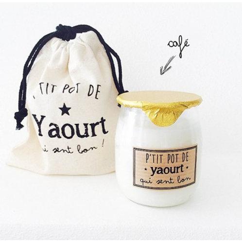 Bougie P'tit pot de Yaourt Café