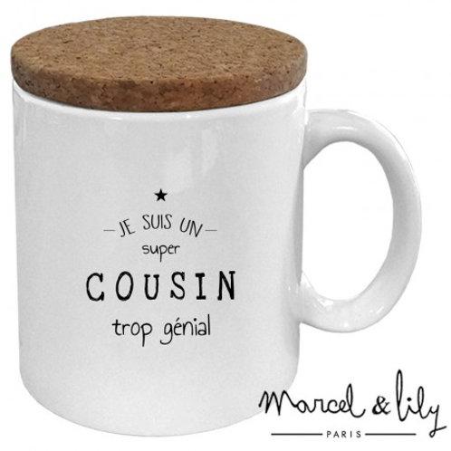 Mug Je suis un cousin trop génial Marcel & Lily