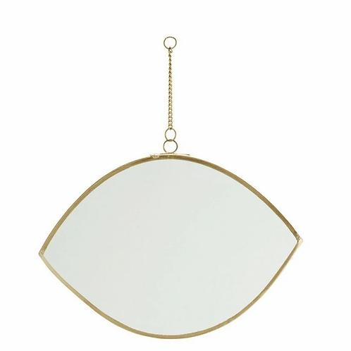Petit miroir à suspendre forme oeil