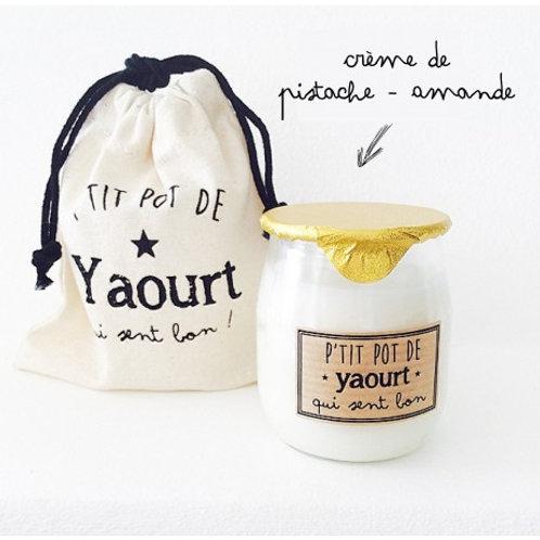 Bougie P'tit Pot de Yaourt Pistache - Amande