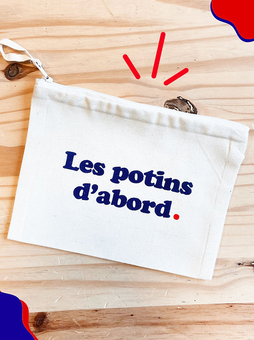 "PochetteEcru ""Les Potins d'abord"""